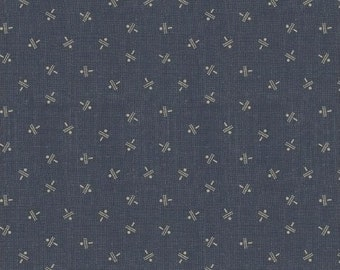 Windham Manor House Upstairs and Downstairs Jeanne Horton Blue Civil War Reproduction 41538-2 Fabric BTY
