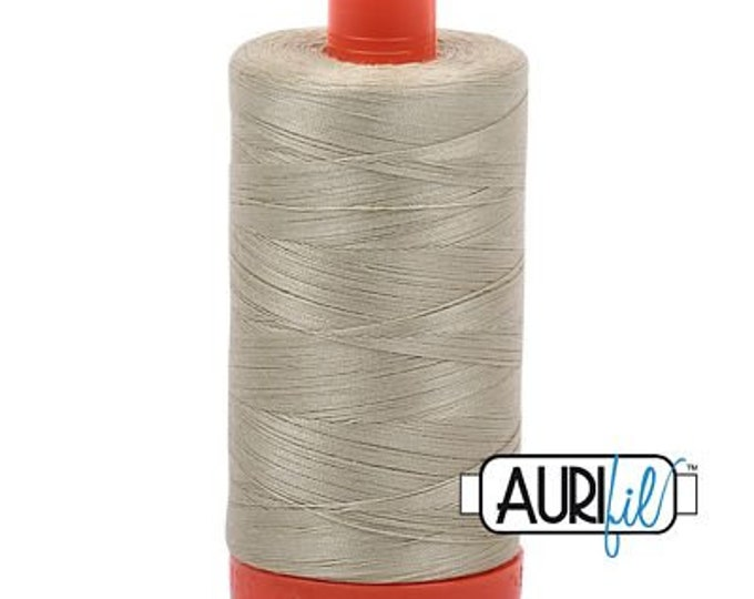 AURIFIL MAKO 50 Wt 1300m 1422y Color 5020 Light Military Green Quilt Cotton Quilting Thread
