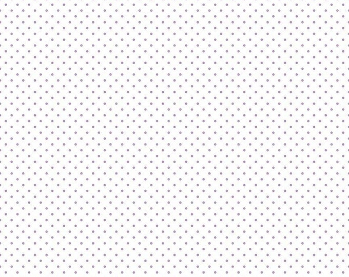 Riley Blake Designs Small Dots LAVENDER C660 Cotton Fabric BTY