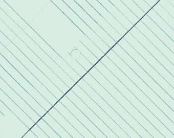 Windham Heather Givans Jot Skyway Blue College Ruled Paper White Blue 50455-3 Fabric BTY