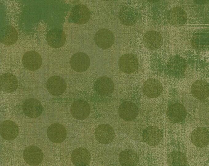 Moda Basic Hits the Spot VERT Army Olive Sage Green Polka Dot Grunge 30149-32 Fabric BTY