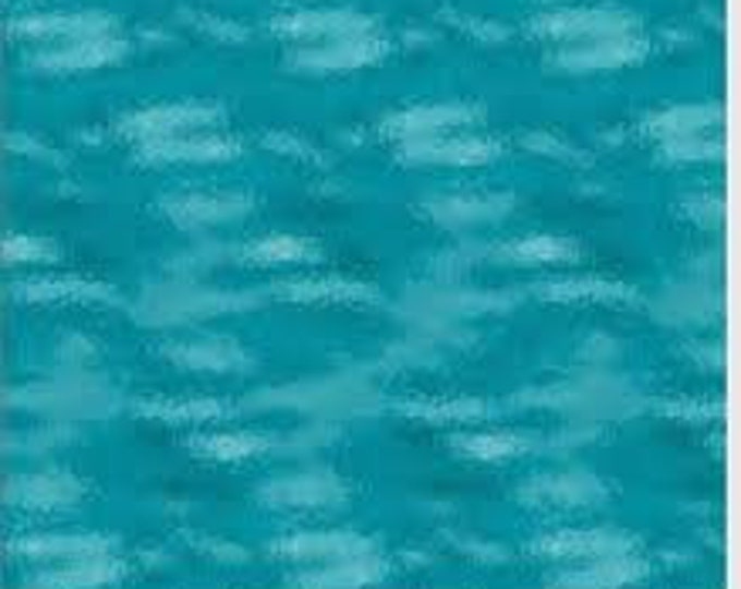PB Textiles Fabric Art Glass 00820 Turquoise Cotton Fabric BTY