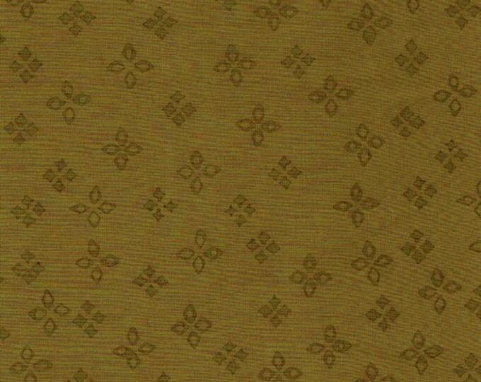 Batik Textiles Fabric 0825 Green Flowers BTY