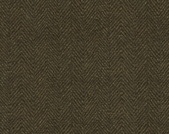 Maywood Woolies Brown Herringbone MASF-1841-J2 Flannel Fabric BTY 1 Yd