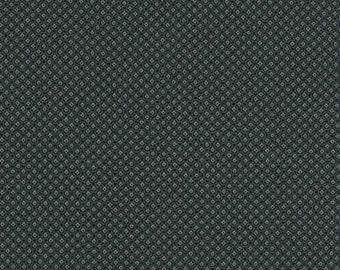 Kaufman Sevenberry Petite Foulard Black Blue Circle Square Fabric SB-82052D14-5 BTY