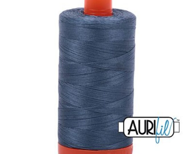 AURIFIL MAKO 50 Wt 1300m 1422y Color 1310 Medium Blue Gray Quilt Cotton Quilting Thread