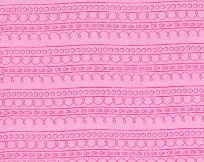 RJR 2637-004 First Words - Stripe - Pink Fabric BTY