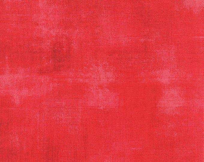 Moda Grunge Basics FLAMINGO Red Pink Mottled Background Fabric 30150-254 BTY