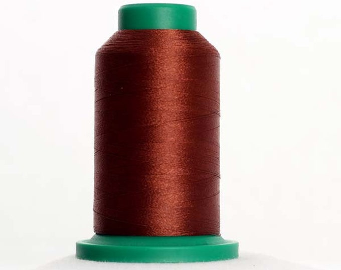 ISACORD Polyester Embroidery Thread  Color 1344 Coffee Bean 1000m