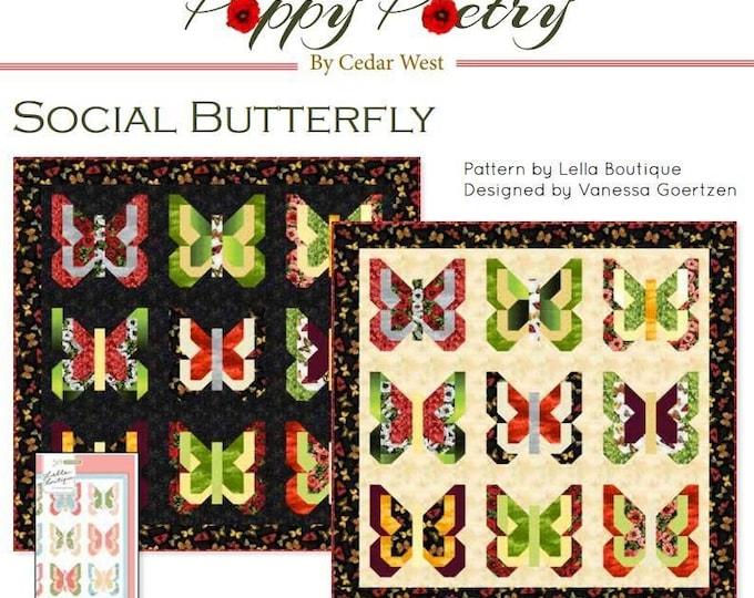 Social Butterfly Quilt Kit