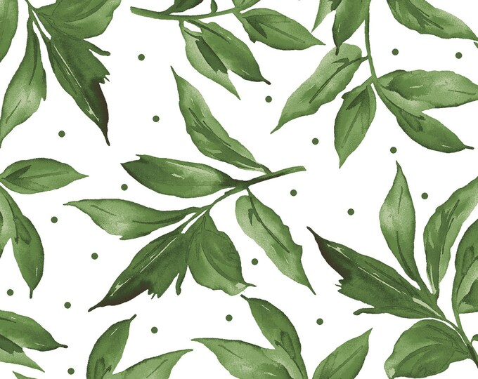 Maywood MAS9654-UW Prose  Leaves Fabric flowers 100% COTTON BTY