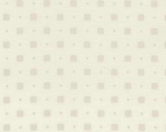 Maywood Fabric MAS111-LW Pearl Essence Square Dots Fabric BTY