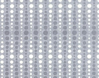 Moda Hugaboo Grey Gray White Dot Brushed Flannel 19739-18B BTY