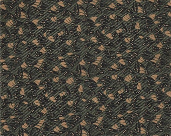 Windham Kindred Spirits 2 Green Black Tan Floral Leaf Civil War Reproduction 40218A-1 Fabric BTY