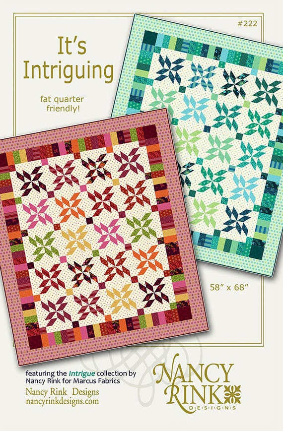 Nancy Rink Designs Its Intriguing 58 X 68 Fat Quarter Etsy