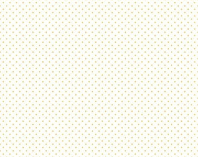 Riley Blake Designs Small Dots YELLOW C660-50 Cotton Fabric BTY