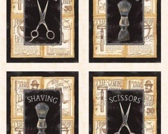 """A close shave scissors 100% cotton 24"""" x 22"""""""