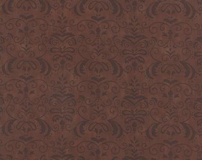 Moda Forest Fancy by Deb Strain Walnut Brown Damask pattern   Cotton Fall  tones 19714-15 BTY