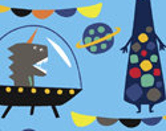 Windham Blue Aliens Martians Spaceships Creations Kids Fun Space Fabric BTY 43231-1