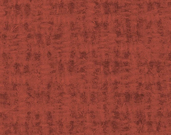 Blank Ginger and Spice Wool Texture Burnt Red Rust Missie Carpenter Tonal Fabric BTY B-9212-88