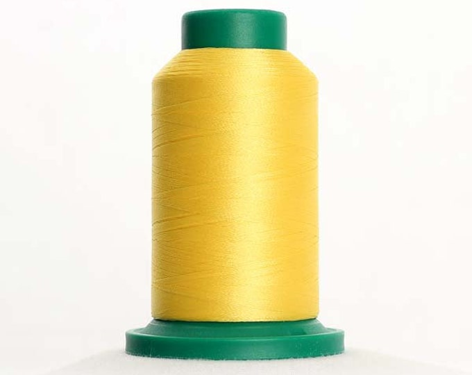 ISACORD Polyester Embroidery Thread Color 0310 Yellow 1000m