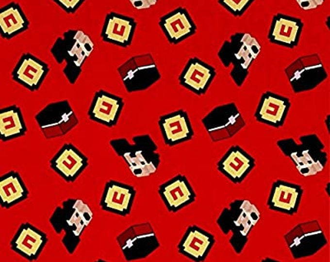 Spring Creatives Fabrics Crossy Road Icons 124655 Red BTY