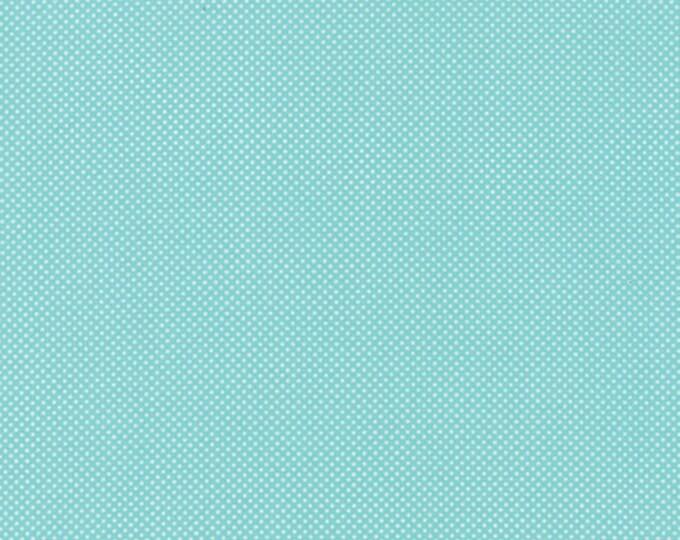 Moda Dottie Tiny Polka Dots Aqua Mint Green White Baby Fabric 45010-55 BTY
