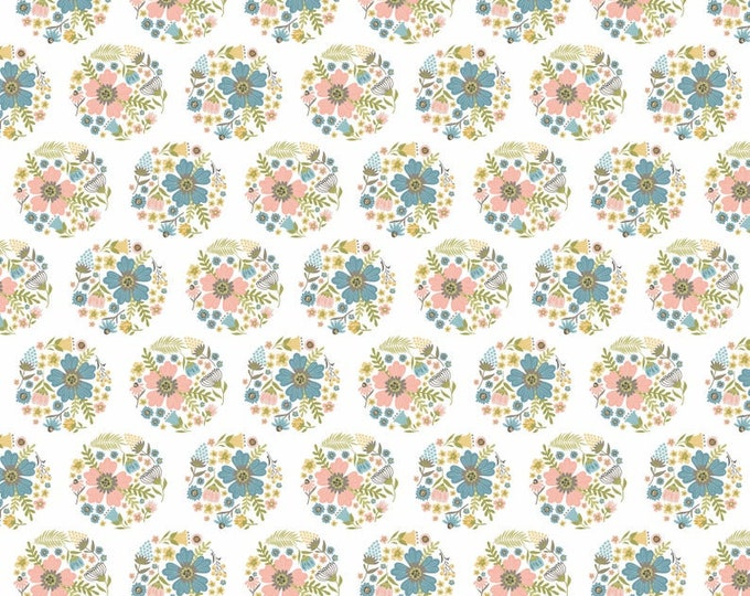 Wanderings by Poppie Cotton WW19069 White Bloom Cotton Fabric BTY