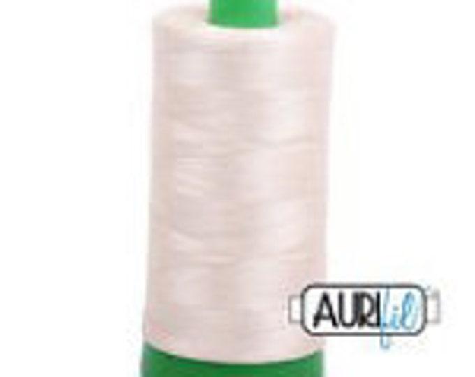 AURIFIL MAKO 40 Wt 1000m 1093y Color 2310 Light Beige Cream Neutral Quilt Cotton Quilting Thread