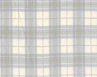 Marcus Primo Plaids Flannel Grey Gray Tan Off White Cream Cool and Calm Fabric  J365-0144 BTY