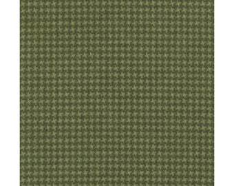 Maywood Woolies Green Forest Olive Weave FLANNEL 18122-G2 Fabric BTY