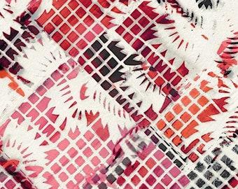 RJR Urban Artifacts Leslie Tucker Jenison Fiesta Grid Terra Rose Pink Fabric 3065-003 BTY