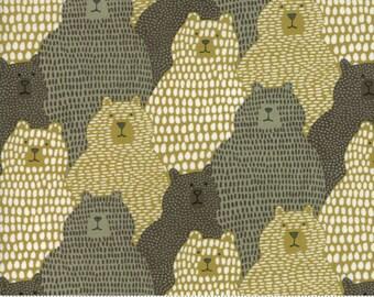 Moda Annie Brady  Big Sky Bear Grizzly Tan Gray Cream Fabric BTY 16701-23