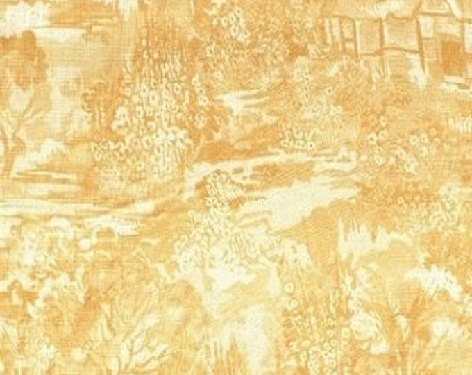 Fabric Freedom Country Garden F0388-05 Cotton Fabric Yellow and White BTY