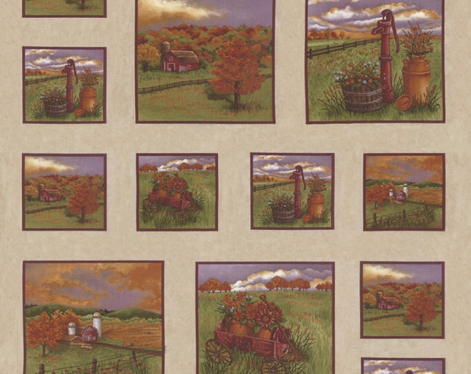 """6790-12 COUNTRY CHARM by Holly Taylor for Moda - 24"""" x 44"""" panel"""