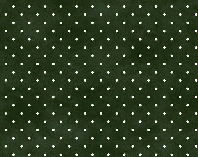 MaywoodMAS609-G Beautiful Basics  Classic Dot Green Fabric 100% COTTON BTY