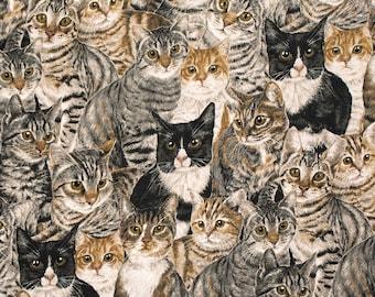 Clothworks Cats the Way I Like It Kitty Cat Kitten Feline Fabric Y2318-55 BTY