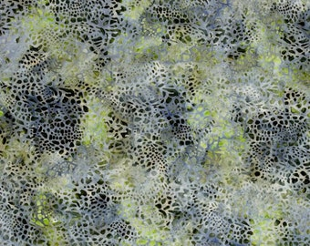 Mckenna Ryan Tiger Fish Pebbles Pebble Stone Grey Green Batik Fabric 15742-155 BTY