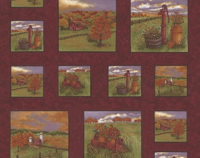 """Country charm Rus RE 100% cotton 24"""" x 44"""""""