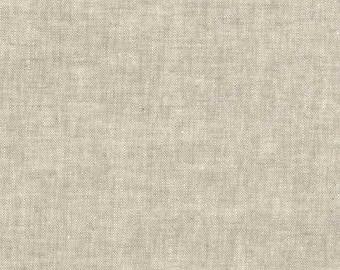Kaufman Essex Yarn Dyed Homespun Cotton Linen Blend Canvas Flax Tan Beige Fabric E114-1143 BTY