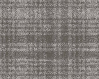 Maywood Woolies Grey on Gray Large Plaid FLANNEL Fabric MASF-18501-K BTY