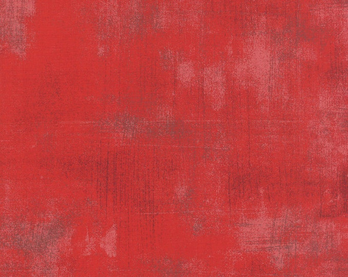 Moda Grunge Basics CHERRY Red Mottled Background Fabric 30150-265 BTY