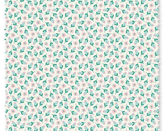 Felicity fabric 610028 Flowers Summer garden Watermelon BTY