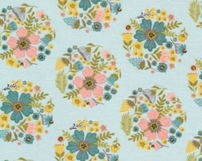 Wanderings by Poppie Cotton WW19070 Cotton Fabric Blue Bloom BTY