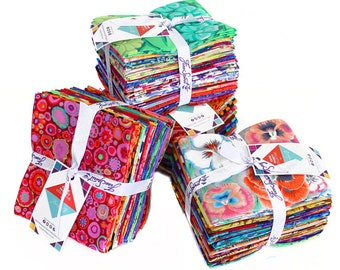 Rowan Kaffe Fassett Mystery Fabric Red Green Yellow Blue Pink 20 Fat Quarter FQ Bundle