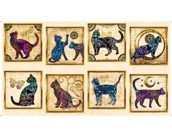 Quilting Treasures Purr Suasion Kitty Cat Panel Cream Ecru Fabric 26642-E BTP
