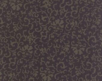 Moda Old Cambridge Pike Barbara Brackman Green Brown Leaf Civil War Fabric 8325-25 BTY