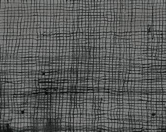 Treasure Hunt by Marcia Derse Smoke Plaid Lines Grey with Black 43191-20 Fabric BTY