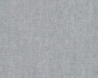Kaufman Essex Yarn Dyed Metallic 50 Linen 40 Cotton 10 Lurex Linen Blend Canvas PLATINUM Gray Silver E105-312 Fabric BTY