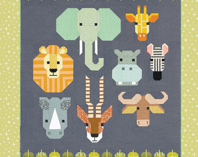 "Spectacular Savanna- by Elizabeth Hartman EH-048- 64"" X 84"" Animal Sampler Quilt w/ Bonus Projects"